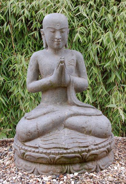 Sitzender Buddha in Begrüßungshaltung, h 80 cm