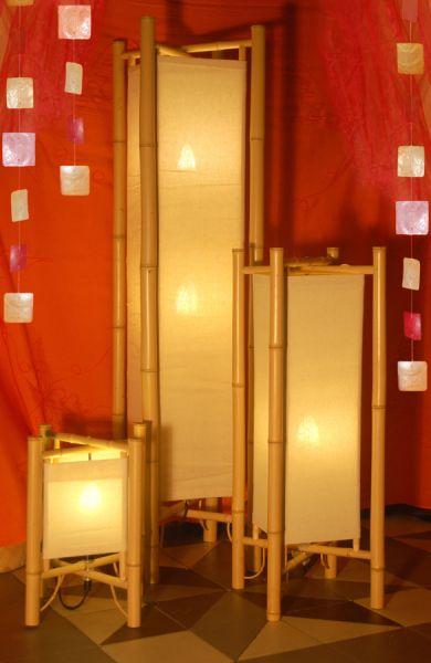 Merapi II Stehlampe aus Bambus