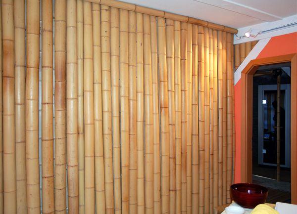 Bambusrohre, naturgelb 300 cm