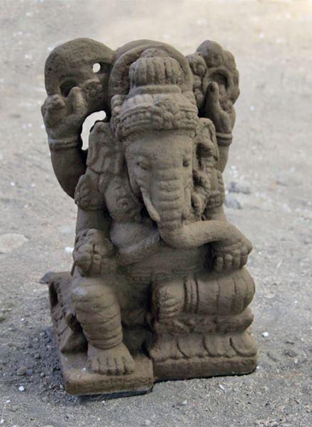ganesha steinguss ganeshas buddhas figuren und skulpturen bambus kultur. Black Bedroom Furniture Sets. Home Design Ideas