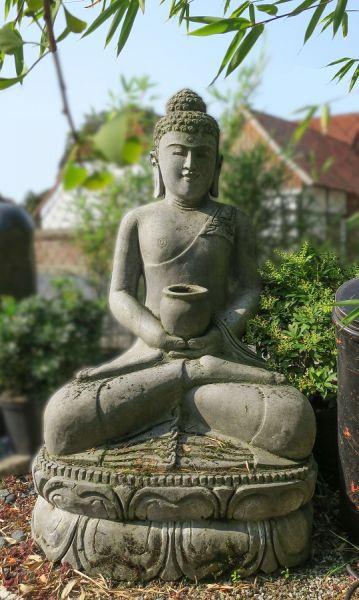 sitzender Buddha mit Almosenschale, h 115 cm