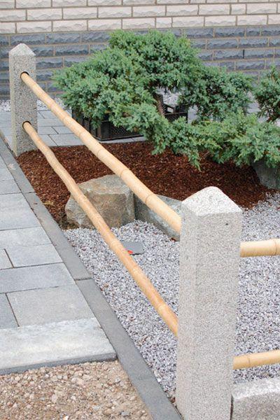Zaunpfahl aus Granit, Höhe 60 cm