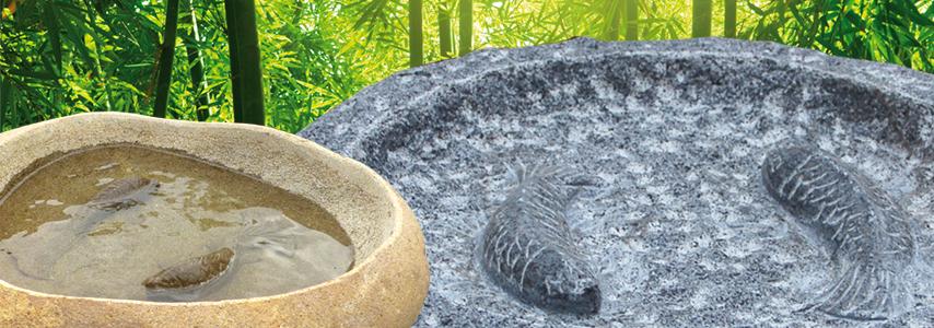 vogeltr nken und wasserschalen aus granit oder naturstein in vielen verschiedenen formen und. Black Bedroom Furniture Sets. Home Design Ideas