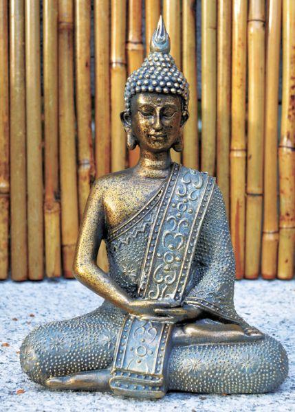sitzender buddha buddhas aus polyresin figuren aus kunstharz und holz figuren und. Black Bedroom Furniture Sets. Home Design Ideas