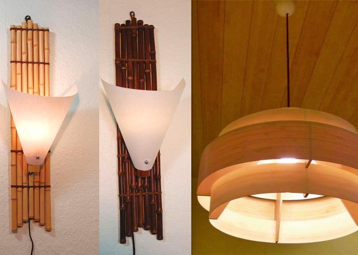 Decken Und Wandlampen Bambuslampen Licht In Haus Und Garten