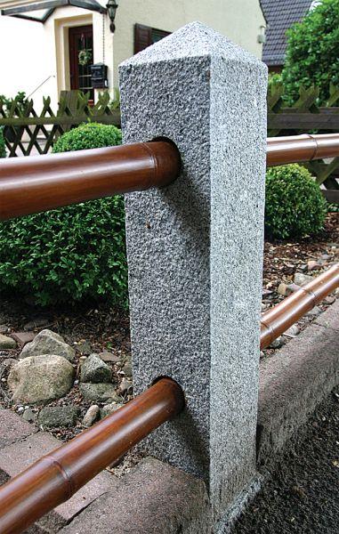 Zaunpfahl aus Granit, Höhe 75 cm