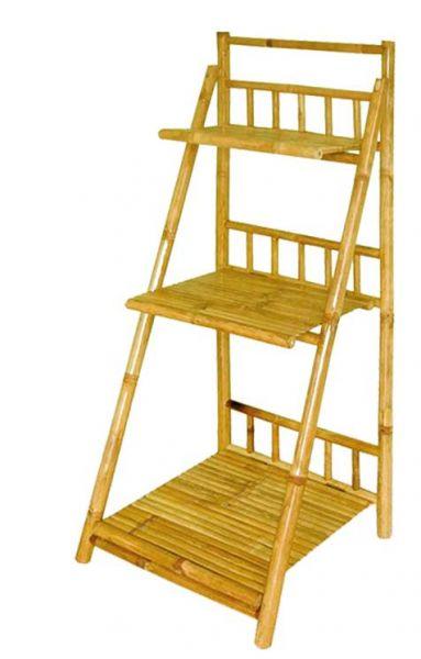 Treppenförmiges Bambusregal