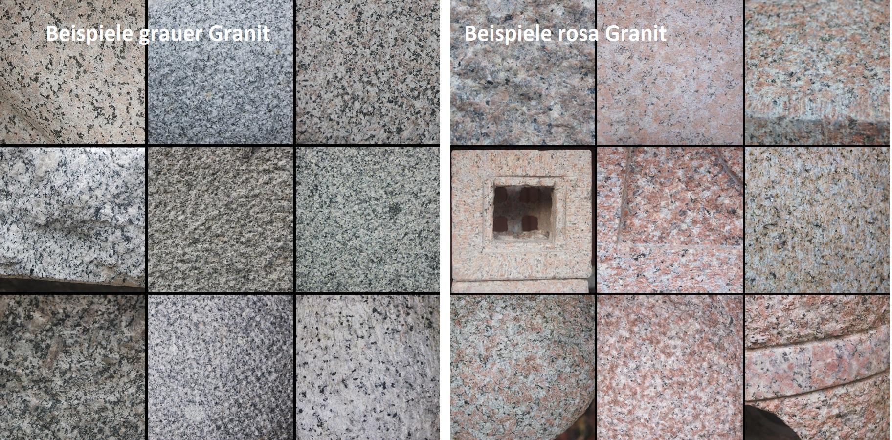 Beispiele Farbe Granit