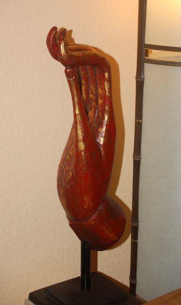 Buddha Hand aus Holz