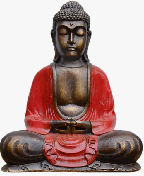 Sitzender Buddha aus Polyresin