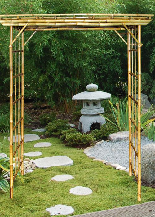 leshan torbogen pergolen gartenartikel deko bambus bambus kultur. Black Bedroom Furniture Sets. Home Design Ideas