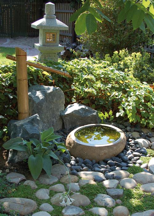 Quellsteine und gartenbrunnen aus granit bambus kultur - Bambusrohre deko ...