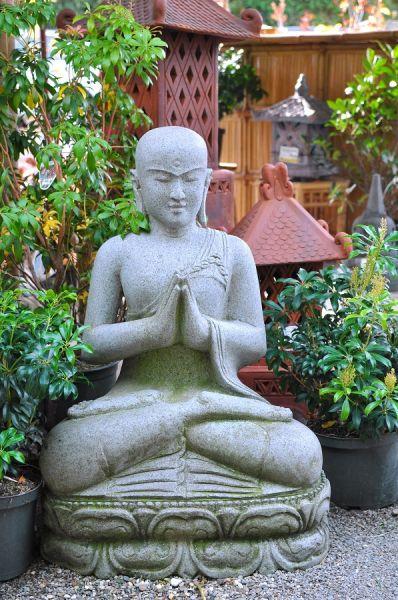 Sitzender Buddha in Begrüßungshaltung, h 85 cm