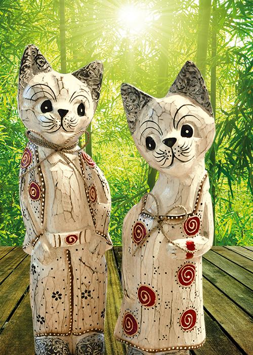 Holzfiguren aus bali figuren aus kunstharz und holz figuren und skulpturen bambus kultur - Bambusrohre deko ...