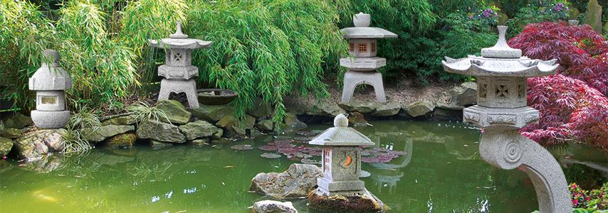 Steinlaternen aus Granit | Bambus Kultur