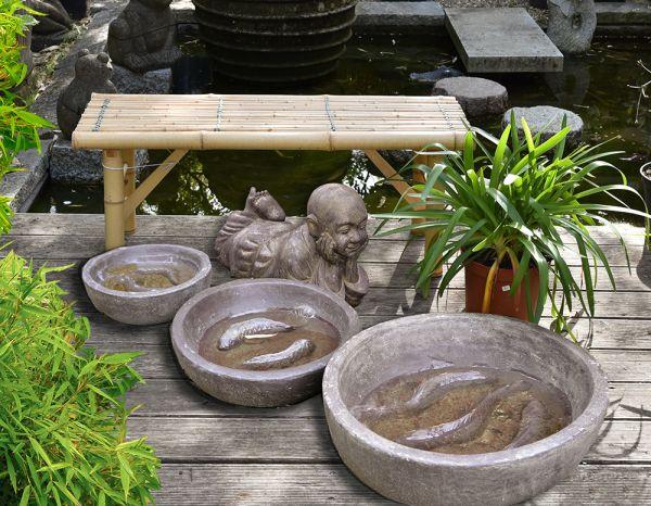 Koi Bachi aus Steinguss 40, 50 und 60 cm