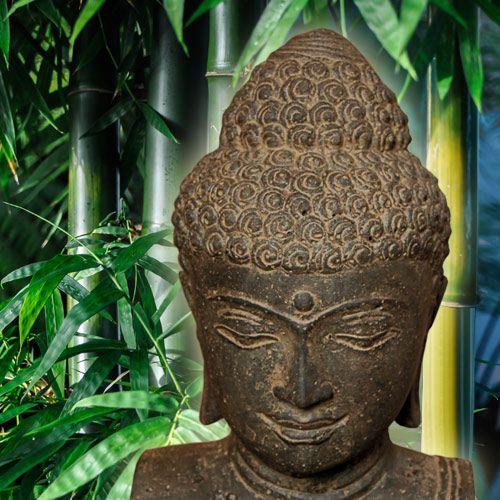 Buddha-Büste, Lavaguss