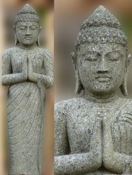stehender Buddha, Basanit natur
