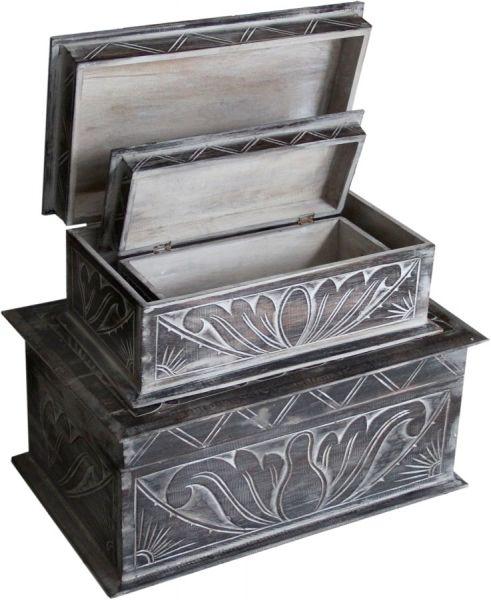 Holzboxen für Accessoires