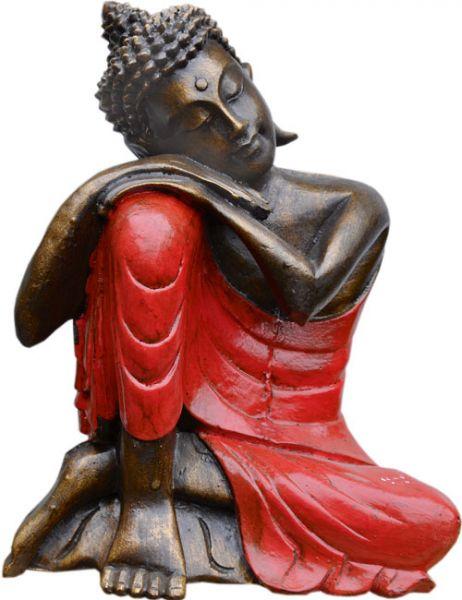 Ruhender Buddha aus Polyresin