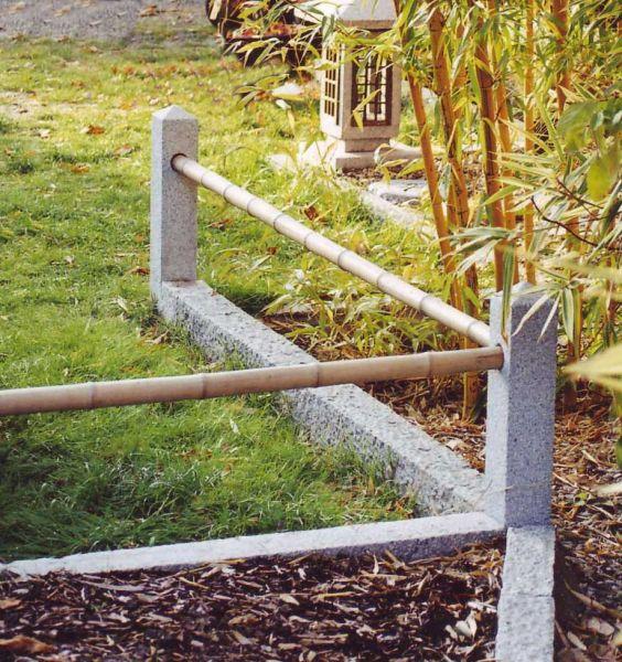Zaunpfahl aus Granit, Höhe 45 cm, für 1 Querholz