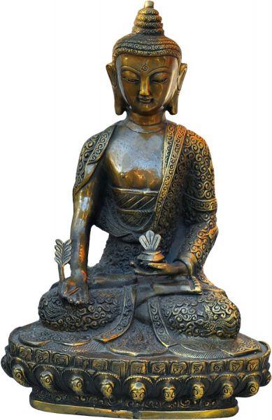 Medizin-Buddha aus Bronze