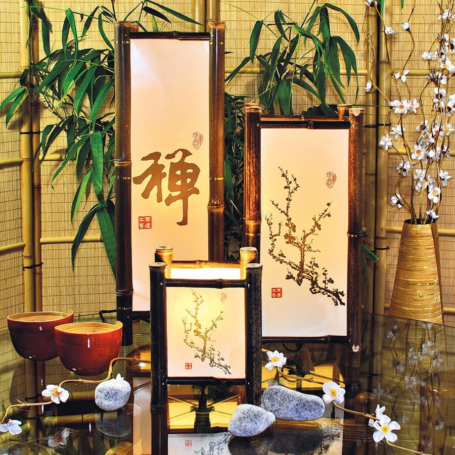 Shujizi tischlampe tisch und stehlampen bambuslampen licht in haus und garten bambus - Bambusrohre deko ...