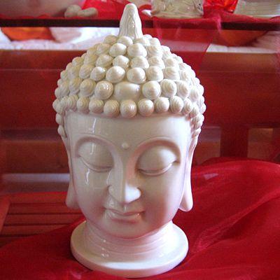 Buddhakopf aus hochwertigem Porzellan