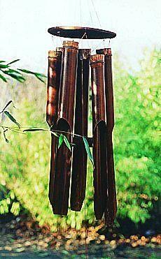 Windspiel aus Bambus