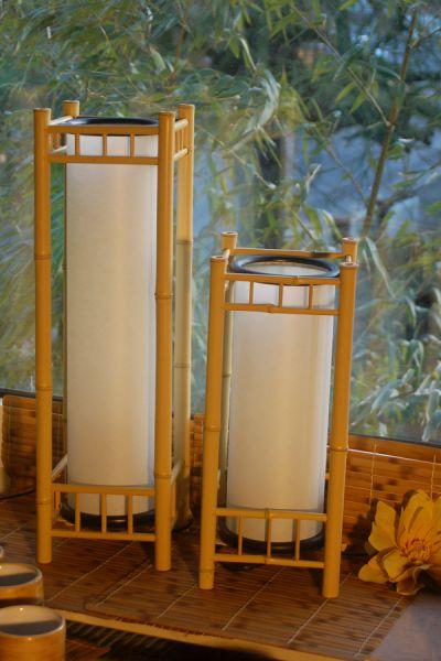 Quadro I Bambuslampe