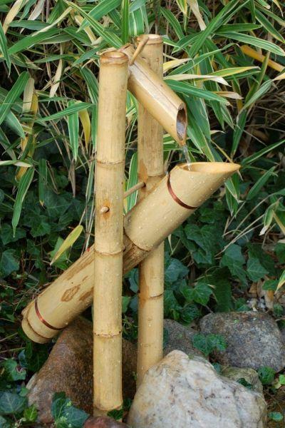 Bambus Wasserspiel Doppelrohr