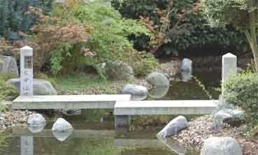 Steinbrücke Ishi Bashi, gerade